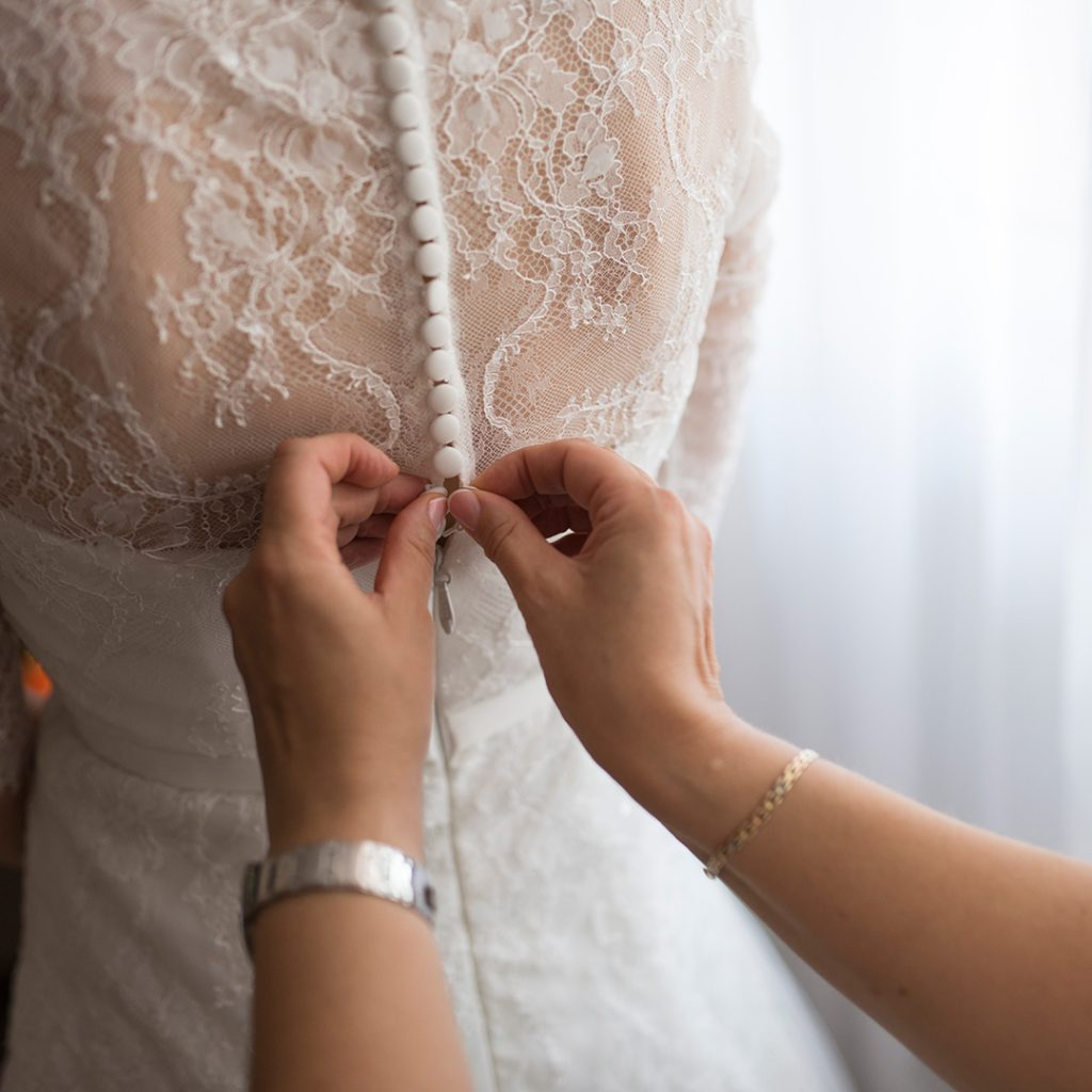 In-house wedding dress alterations